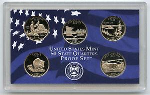 2005-State-Quarter-Proof-Set-5-Coins-US-Mint-Official-Authentic