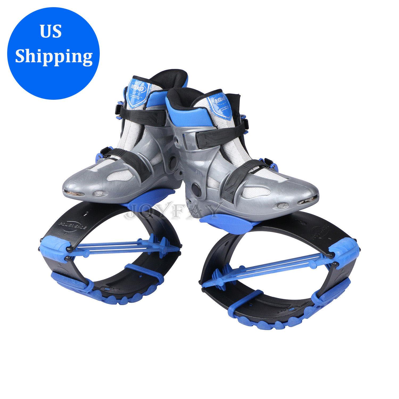 Blau Springen Schuhe Bounce Stiefel Neu Damen Sport US Gebundene Halsbinde
