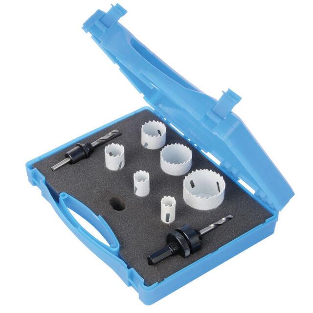9pc Bi-Metal Holesaw (18-51mm) Kit Plumbers Builders Set with Case