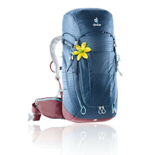 Deuter Womens Trail Pro 34 SL Backpack Blue Sports Outdoors Breathable