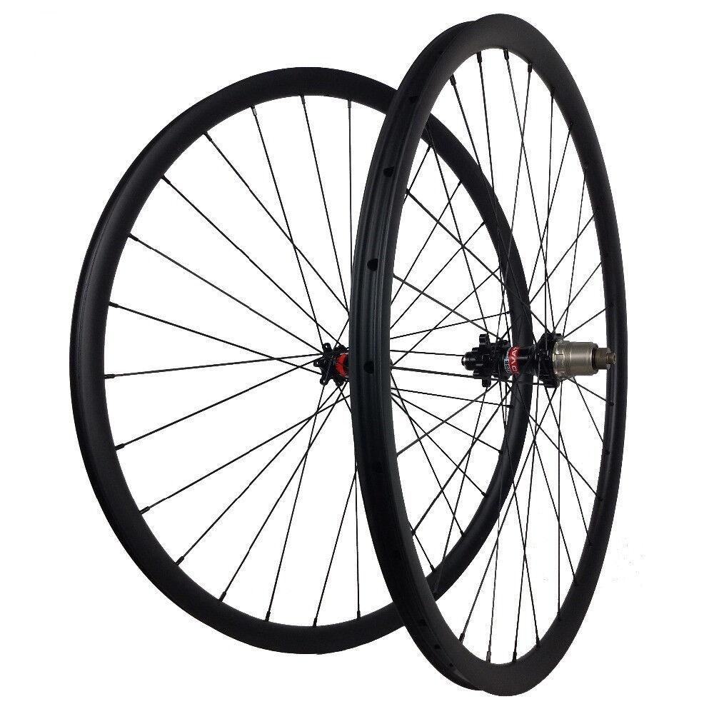 29er  Disc Brake Gravel Bike Wheel Cyclocross XC mtb carbon Wheels 28mm width  100% brand new with original quality