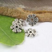 50pcs Tibetan silver plum flower spacer beads h2802