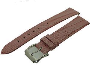 # L060 # Uhrenarmband Armband Leder Eidechsen Optik Bracelet Leather 18 Mm Fabriken Und Minen