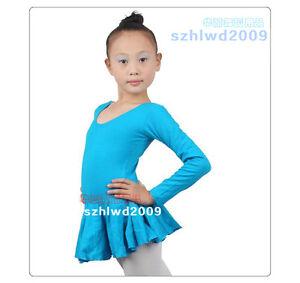 885a0ceee2de9 Girls Kids Party Gym Leotards Skirt Ballet Costume Tutu Dance Skate ...
