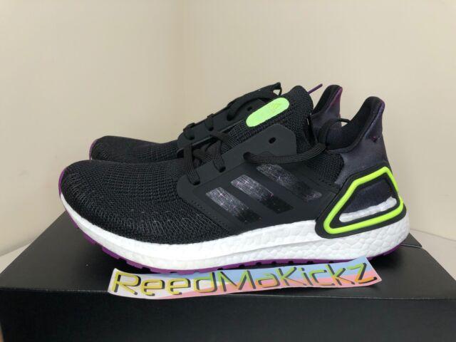 adidas Kids US 6.5 Ultraboost 20 Running Shoe Black/purple/white Eg48706