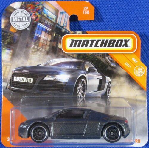 Matchbox Audi R8 GREY #29 2020 new on short card