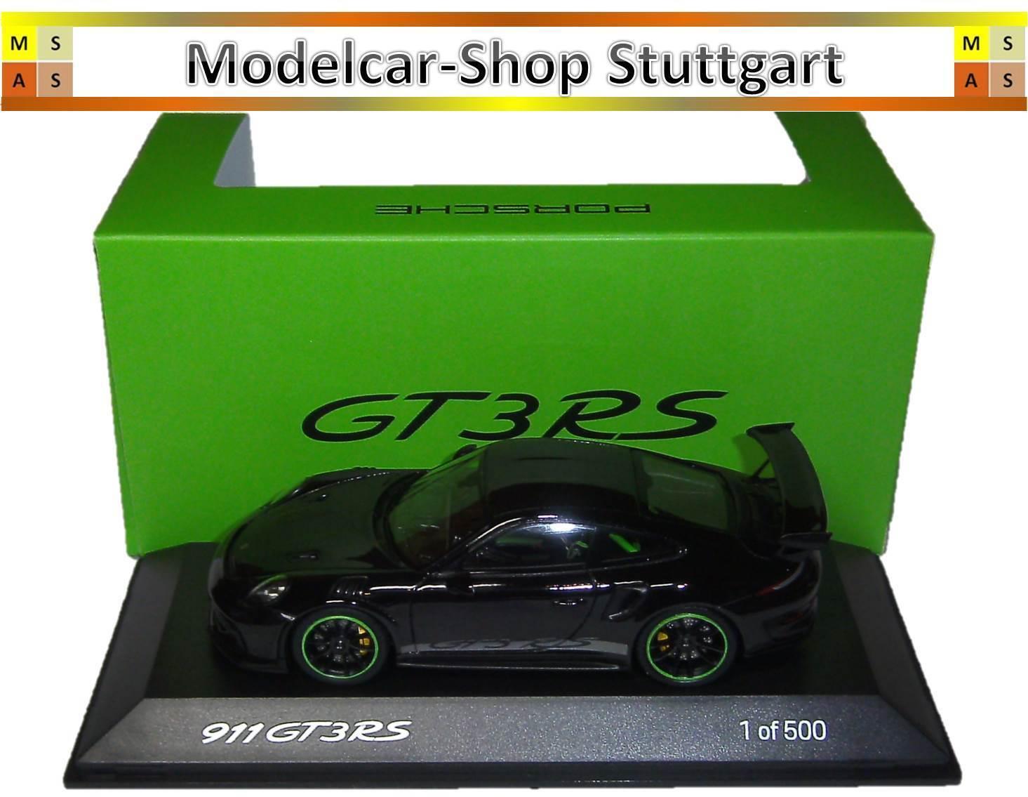 Porsche 911 GT3 Rs Noir Édition Limitée 500 Spark 1 43 - WAX02020083 Neuf