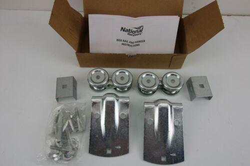 N182-550 National Hardware Box Rail Hangers for Wood Frame Sliding Door Pair