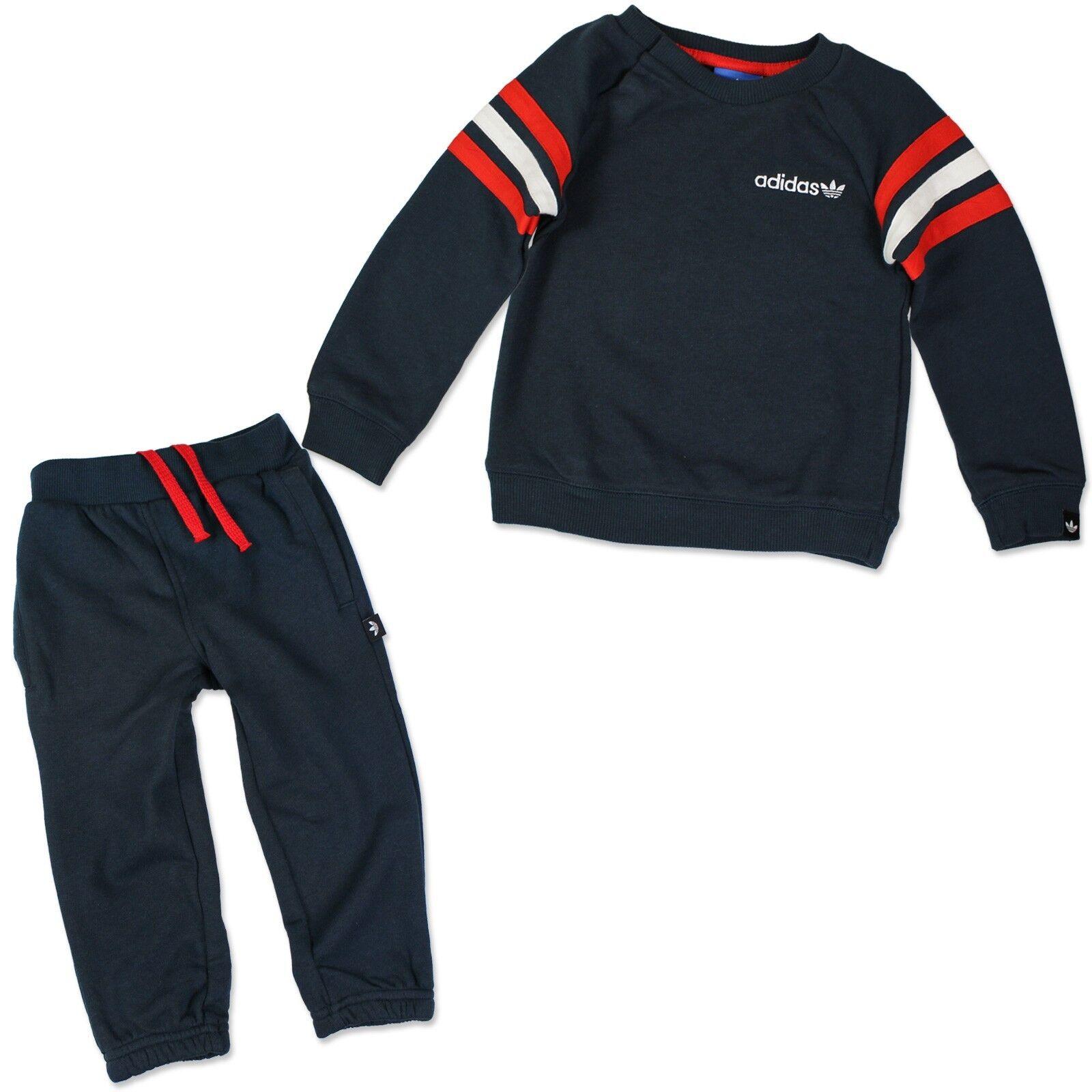 ADIDAS ORIGINALS ENFANTS Crew Jogger Jogging Suit Sweat Pantalon Bleu Rouge 80