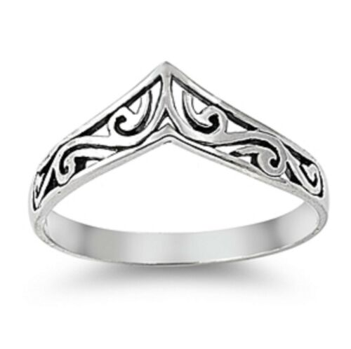 Solid Sterling Silver 925 Unique Boho Style Rings Size F to Z Stacking Stackable
