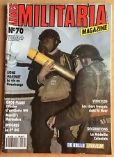 ARMES MILITARIA N° 70 / UNIFORME,INSIGNES,ARMY,BERETS,MEDAILLE,BLINDES,GUERRE