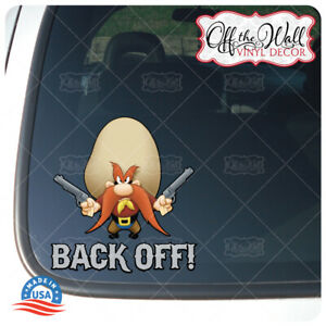 Yosemite-Sam-034-Back-Off-034-Die-cut-Printed-Waterproof-Sticker-for-Cars-Trucks-YSD1