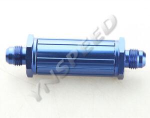 Blue 150 Micron 6AN AN-6 Billet Magnetic Aluminum Fuel Filter Racing Fuel Tank