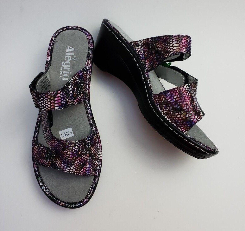 Alegria Schuhes Sandales Slides Wedge US Heels Loti Funtastic Größe US Wedge 7-7.5  / EUR 37 424f41