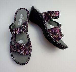 083362f95ae Image is loading Alegria-Shoes-Sandals-Slides-Wedge-Heels-Loti-Funtastic-