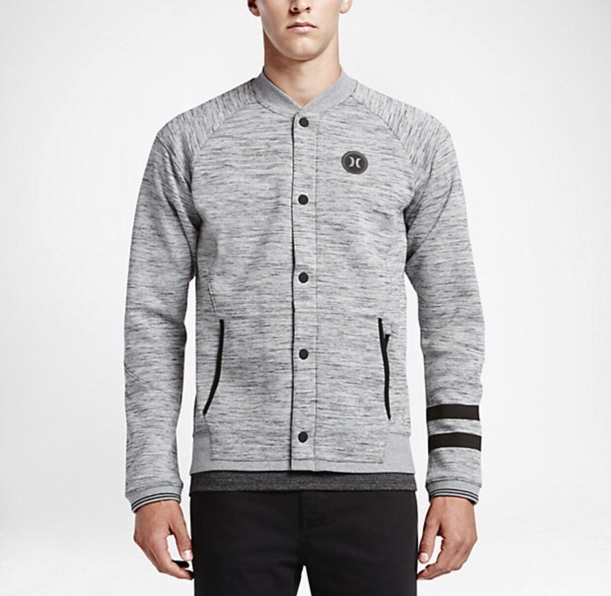 Hurley Phantom Bomber Fleece (Dark Grau Heather) Sz 2XL MFT0006460 06g