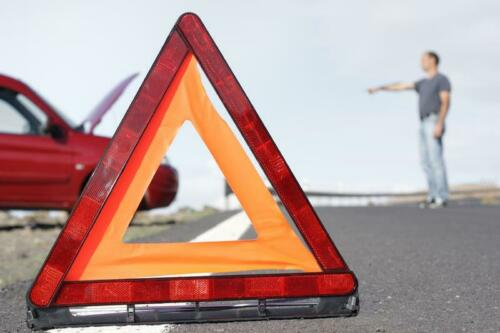 Warning Triangle Eu Approved Emergency Breakdown Red With Stand /& Case For Skoda
