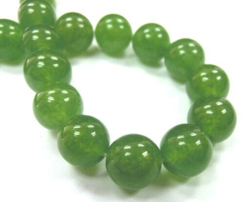 Jade moosgrün vert 6 mm Perles Boules environ Bijoux Perles 1 Strang