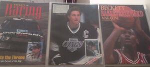 Lot-of-3-Beckett-039-s-First-Issues-Basketball-Hockey-Jordan