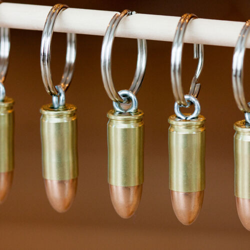 9mm Bullet Key Chains Handmade in USA