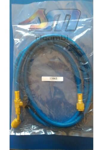 FRUSTA TUBO FLESSIBILE BLU 45° MT.1.5 CON RUBINETTO 1//4X1//4 R134-R407C-R422