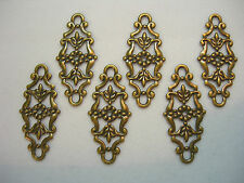 Antiqued Brass Filigree Drops Connectors Earring Findings - 6