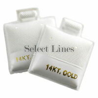100 14kt Gold White Puff Earring Pad Jewelry Cards 1x1