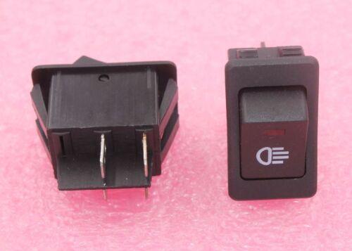 Automotive Rocker Switch DPST Lot of 3 E1010 12V @ 35A