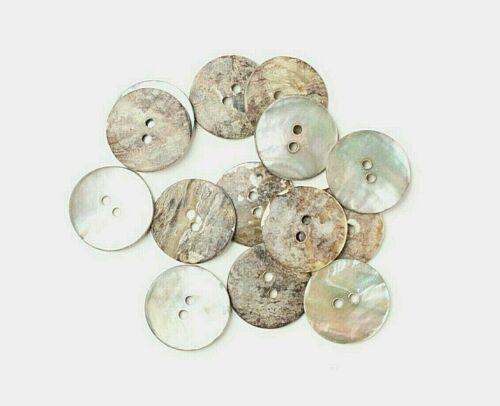 15mm//24L Madre de Perla//Shell Botones-Ahumado-Costura Artesanía