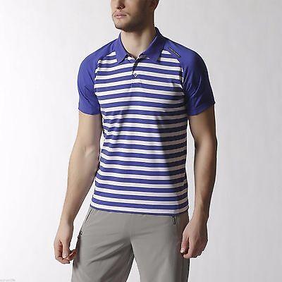 Adidas Porsche Design Striped Polo P5000 Tee Mens Blue Shirt Size L  Poloshirt 27300602d