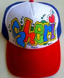 44bf45f9a Details about Sheri Your Name Gift Trucker Hats Caps Personalized Custom  Graffiti Airbrush Art