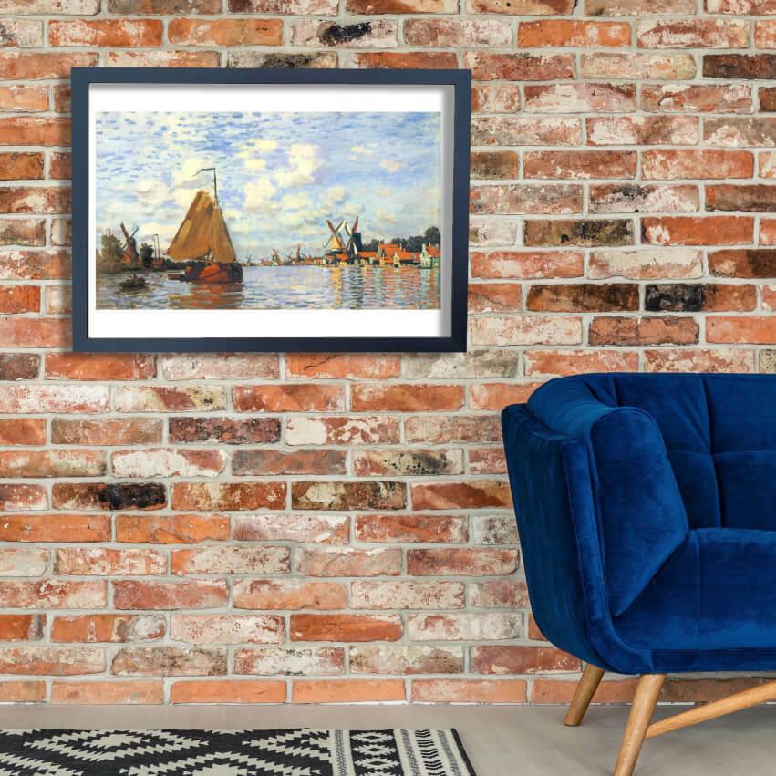 Claude Monet - The Zaan at Zaandam Wall Art Poster Print