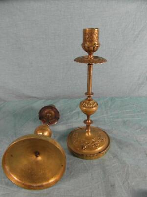 Paar Kerzenständer Antik Messing Jugendstil Kerzenhalter Verziert France O8c9