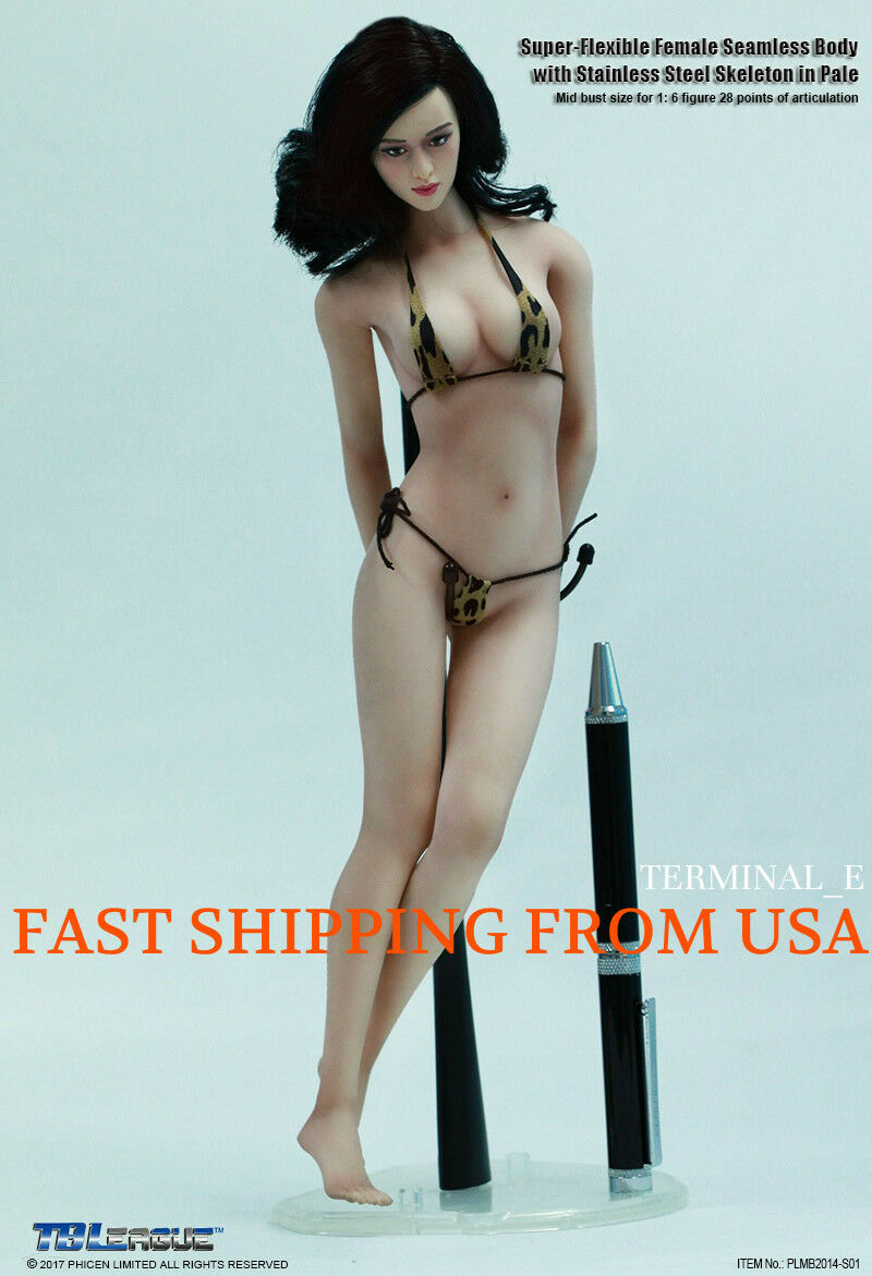 Figura Femenina Phicen Tbleague 1 6 Transparente Pálido medio busto PLMB 2014 S01 ❶ USA ❶