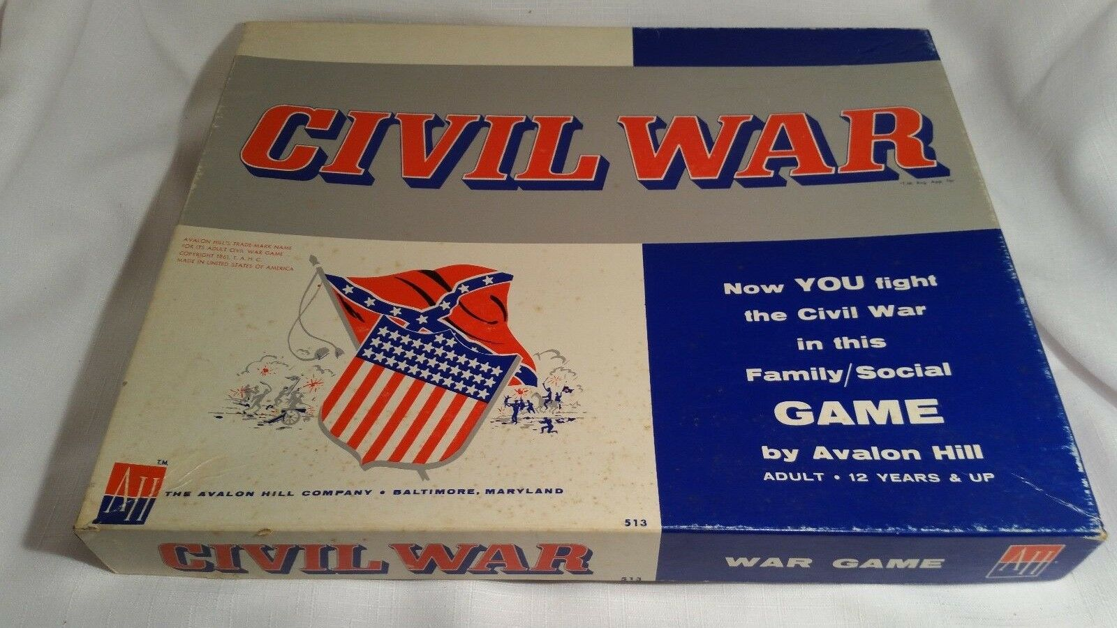 Avalon Hill Hill Hill Civil War 1961 Complete 879239