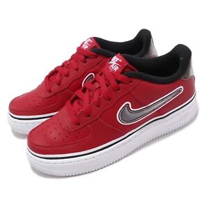 Details about Nike Air Force 1 LV8 Sport GS AF1 NBA Red Black White Kid Women Shoes AR0734 600