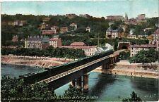 CPA Lyon-Le cote au St Irénée&le Pont du Chemin de Fer sur la Saone (235823)