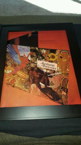 Santana Abraxas Rare Original Promo Poster Ad Framed!