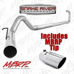 MBRP-4-034-EXHAUST-03-07-FORD-POWERSTROKE-DIESEL-6-0L-F250-F350-NO-MUFFLER-WITH-TIP