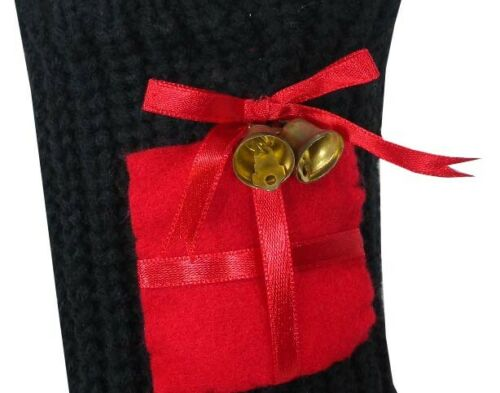 Ladies Warm Chunky Christmas Sock With Jingle Bell Bargain Deal Stocking Filler
