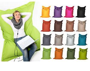 Sitzsack-Sitzkissen-Bodenkissen-Tobekissen-100x70cm-Polyester-diverse-Farben