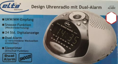 Design Uhrenradio Elta 4248N Radiowecker mit Dual-Alarm