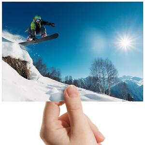 Cool-Stunt-Jump-Snowboarding-Small-Photograph-6-034-x-4-034-Art-Print-Photo-Gift-8113