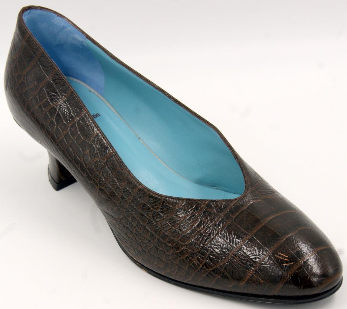 una marca di lusso Thierry Rabotin Marrone Leather Donna    Heel scarpe Sz 10 M  ti renderà soddisfatto