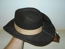 Mens Peter Grimm Thorn Brown Cowboy Hat Brown Peter Grimm