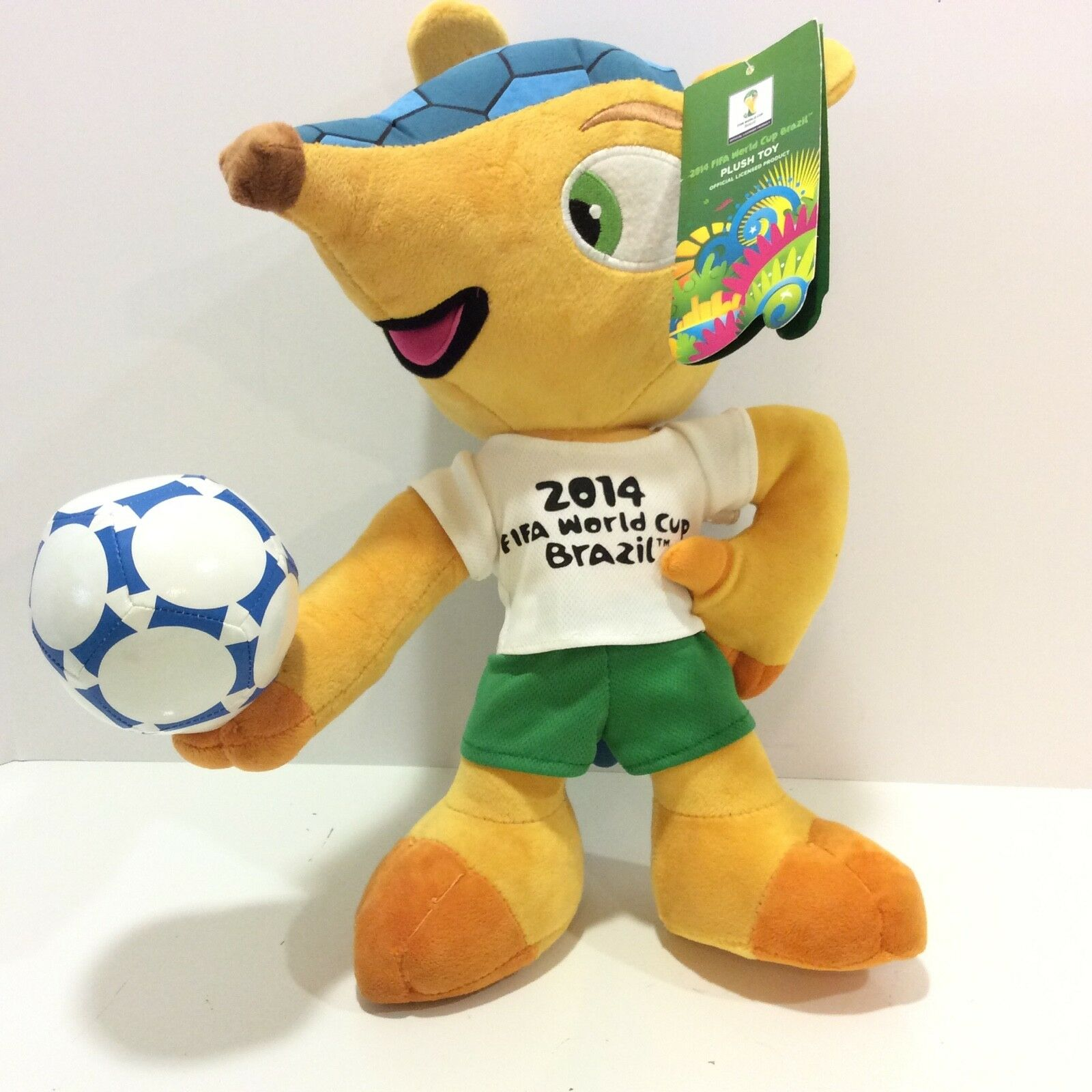 """Joy Toy Fuleco Plush 15/"""" The Official Mascot of the 2014 FIFA World Cup Brazil"""