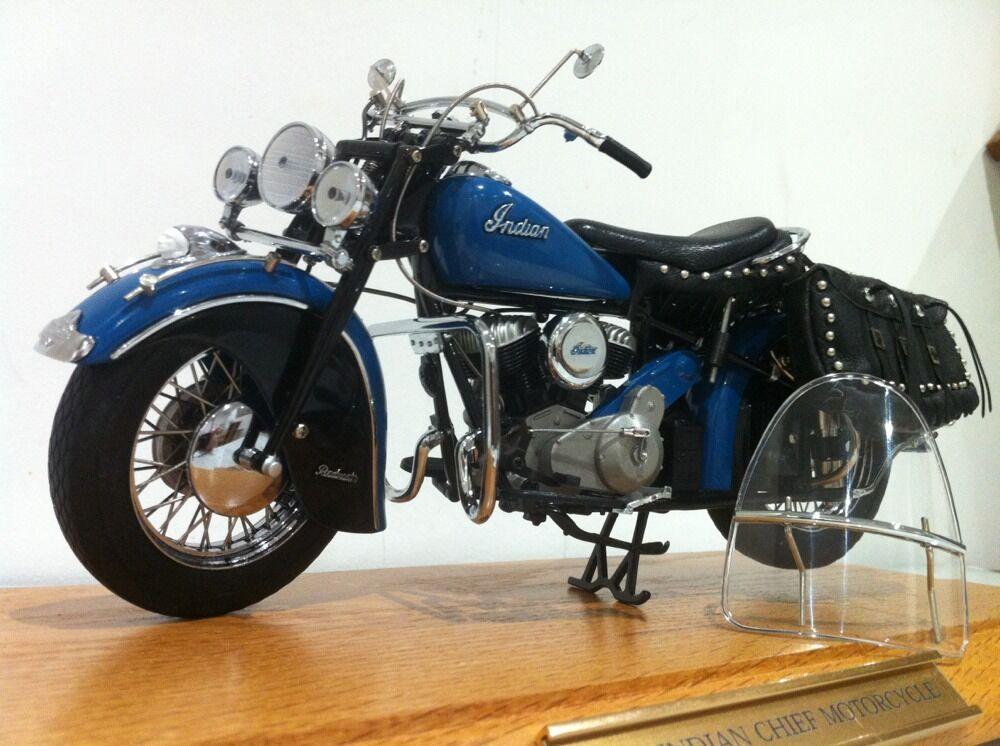 Franklin. Danbury Mint 1 10 jefe indio 48 Moto Bicicleta + Vitrina MIB