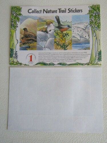 e13 Tesco 1989 Nature Trail Stickers Token Variants