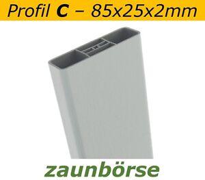 Musterstueck-Zaunlatte-C-85x25x2mm-034-silbergrau-034-Profiware-Gartenzaun-Staketen
