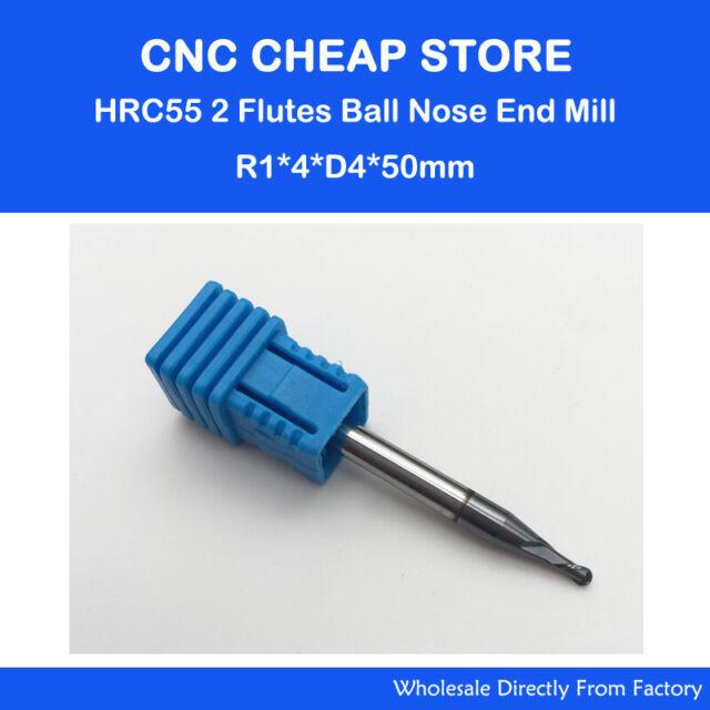 diameter 3.5mm HRC45 2 flute tungsten Carbide Ball Nose End Mill milling cutter